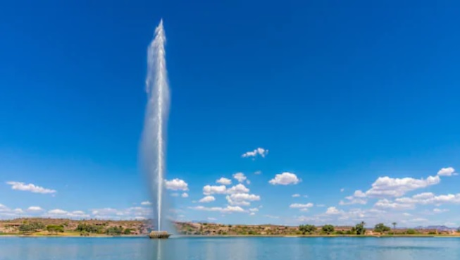Chorros de agua de altura